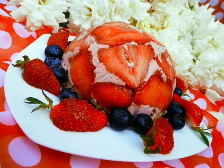 raw jahodová torta