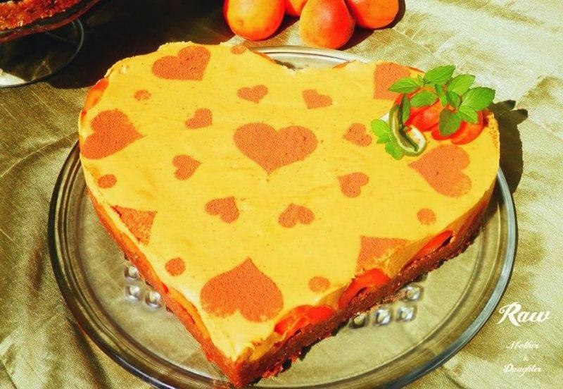 raw marhuľová torta