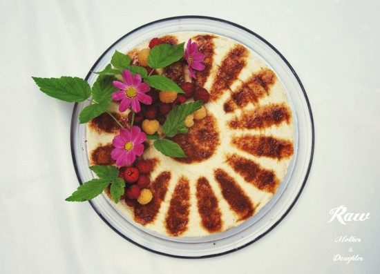 raw orechová torta