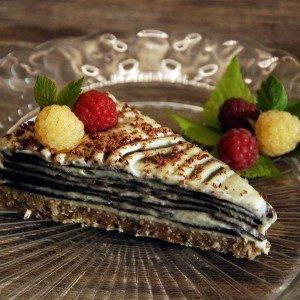 raw vanilkový rez