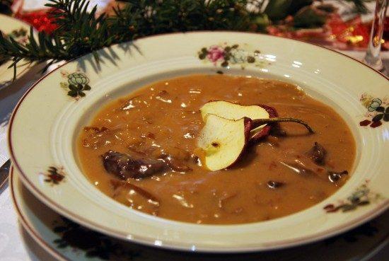 vianočná hubová polievka