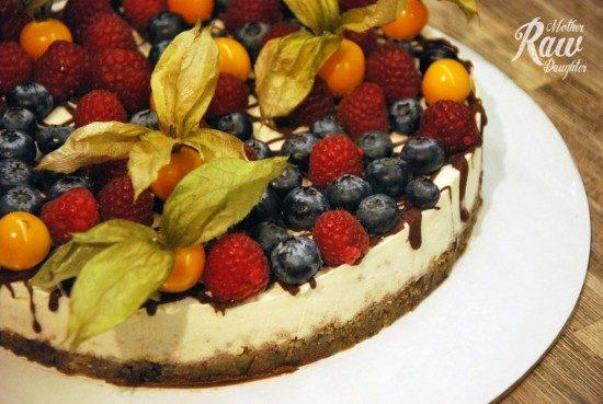 raw citrónový cheesecake
