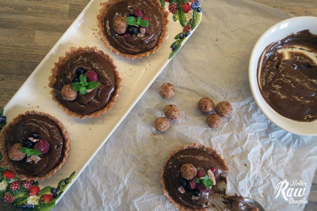 Čokoládové Tartaletky raw