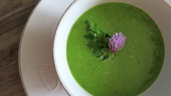 raw špenátová polievka