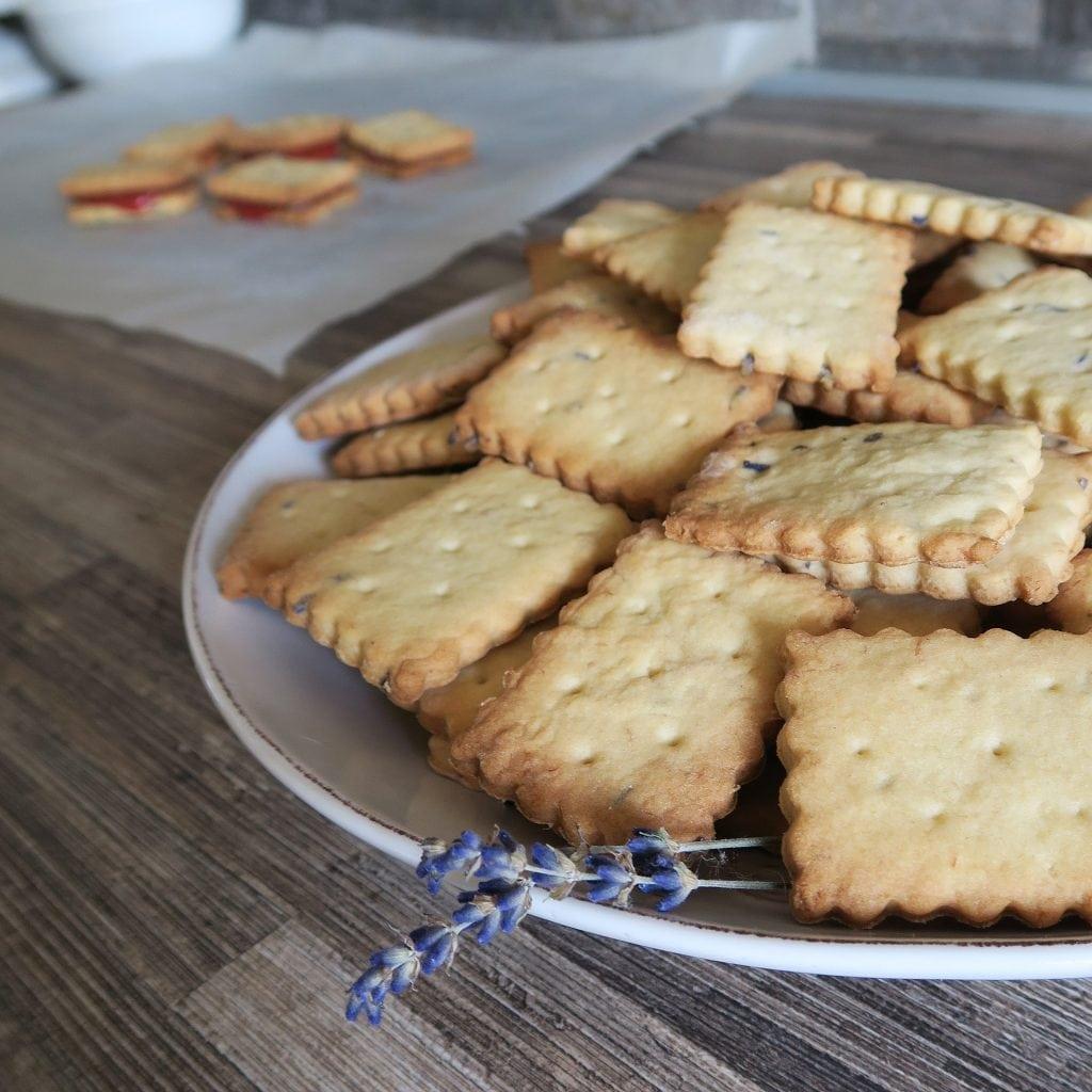 vegan levanduľové sušienky