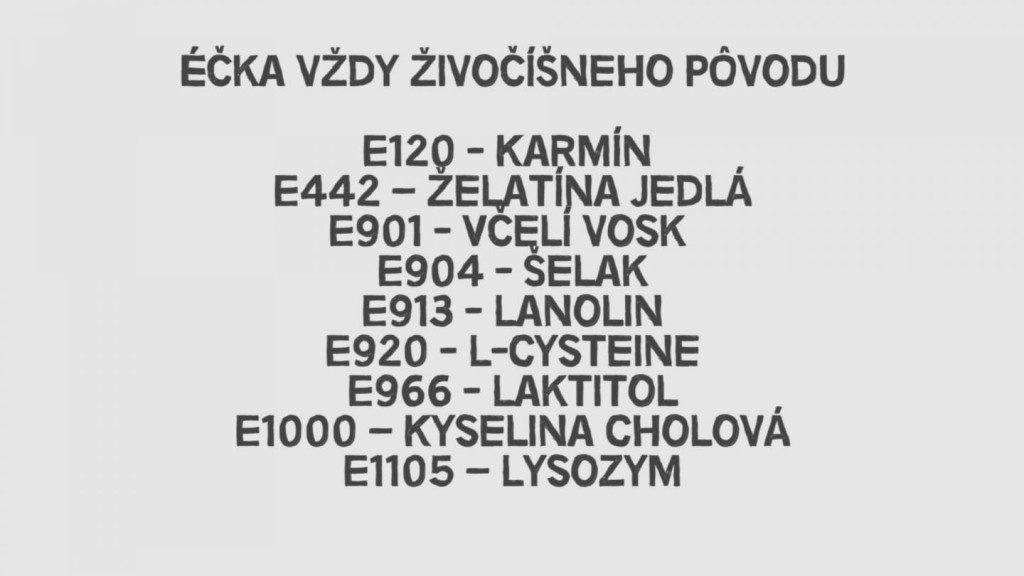 zoznam éčiek