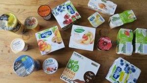 sójové jogurty