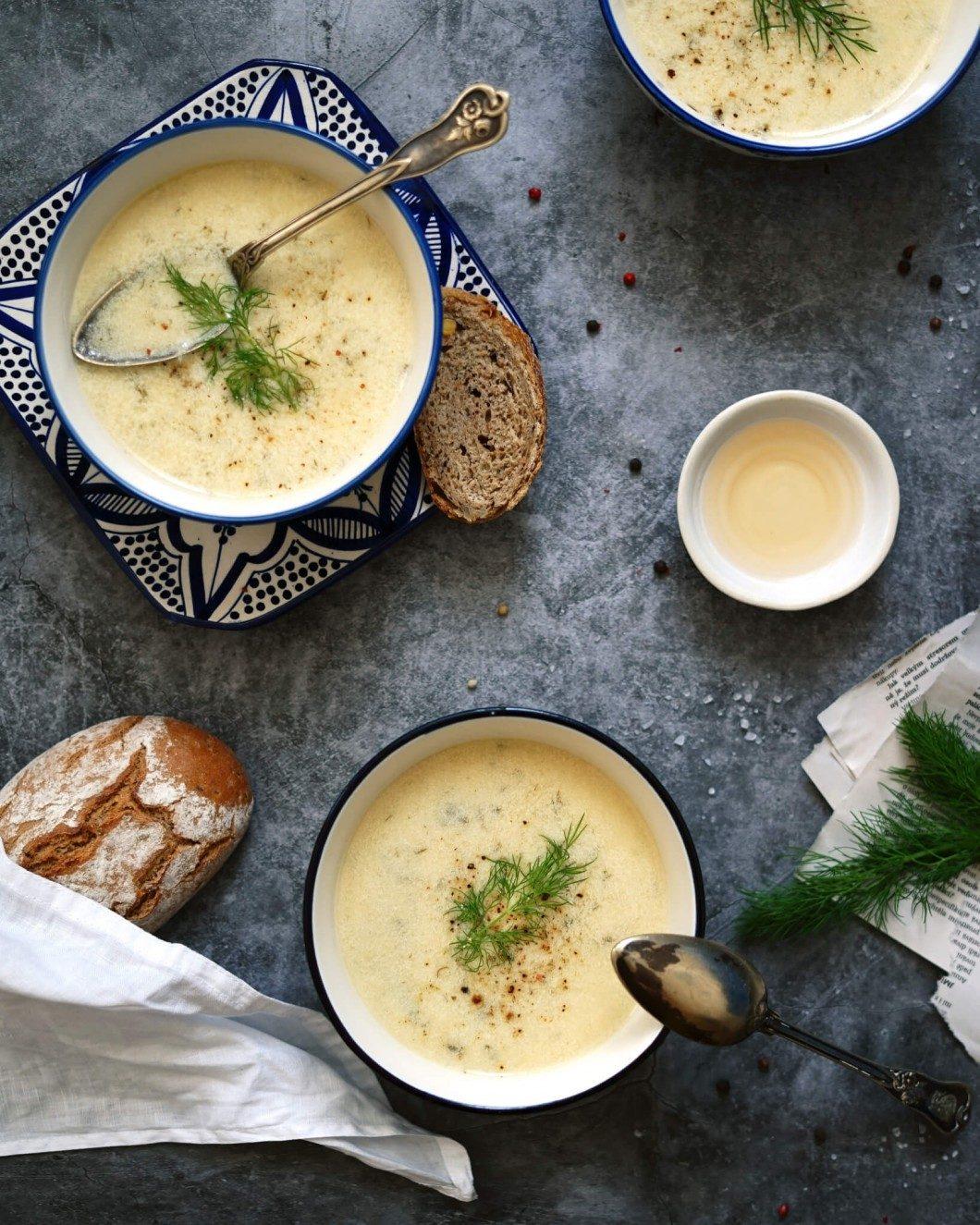 vegan kôprová polievka