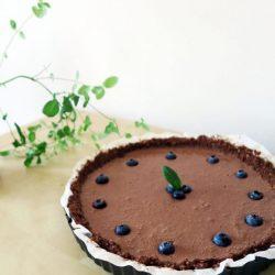 Hodvábny čokoládový koláč z tofu