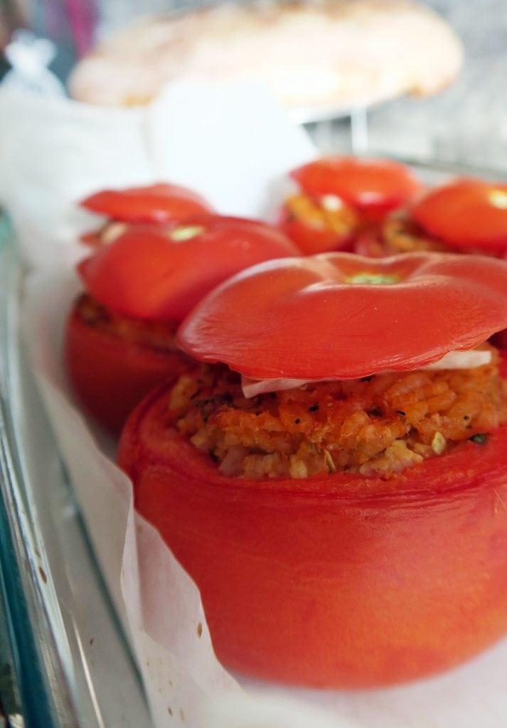 zapekané paradajky s tofu