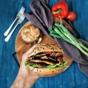 Hlivový gyros burger