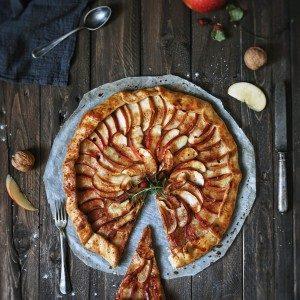 vegan jablková galetka