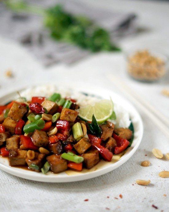 vegan kung pao s tofu