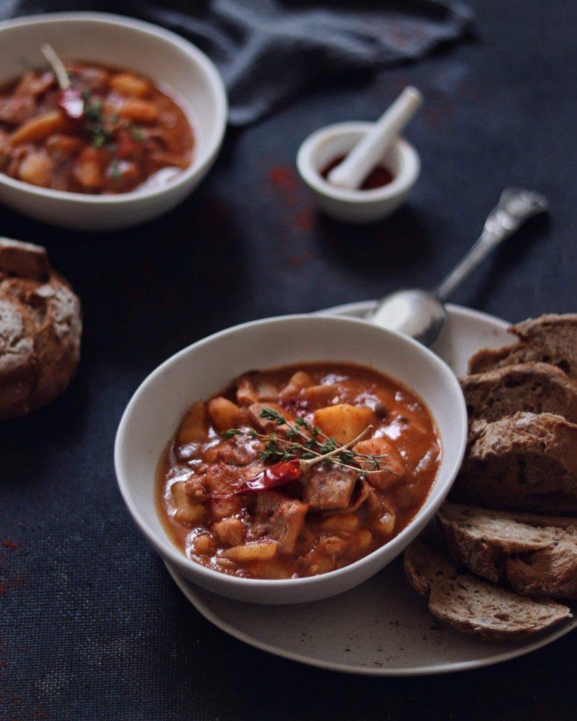 vegan hlivový guláš so zemiakmi