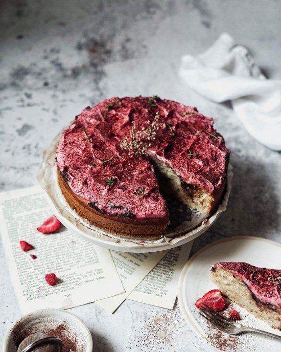 vegan pudingový koláč