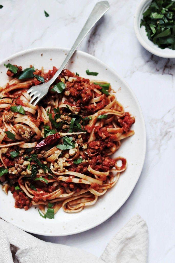 vegan bolognese špagety