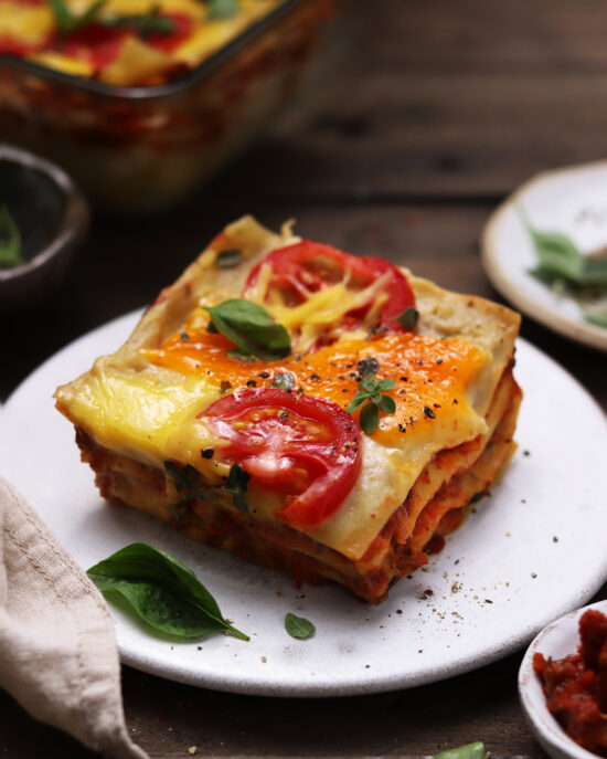 vegan lasagne s baklažánom