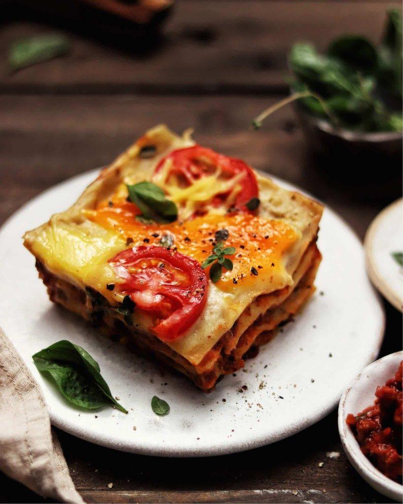 vegánske lasagne