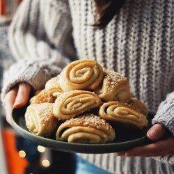 Vegan Juhoslovanské koláče so sezamom