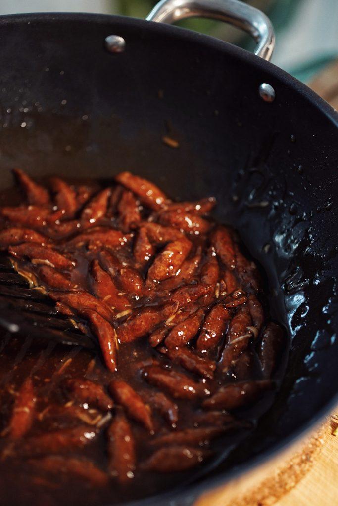 sójové kúsky v ostrokslej omáčke