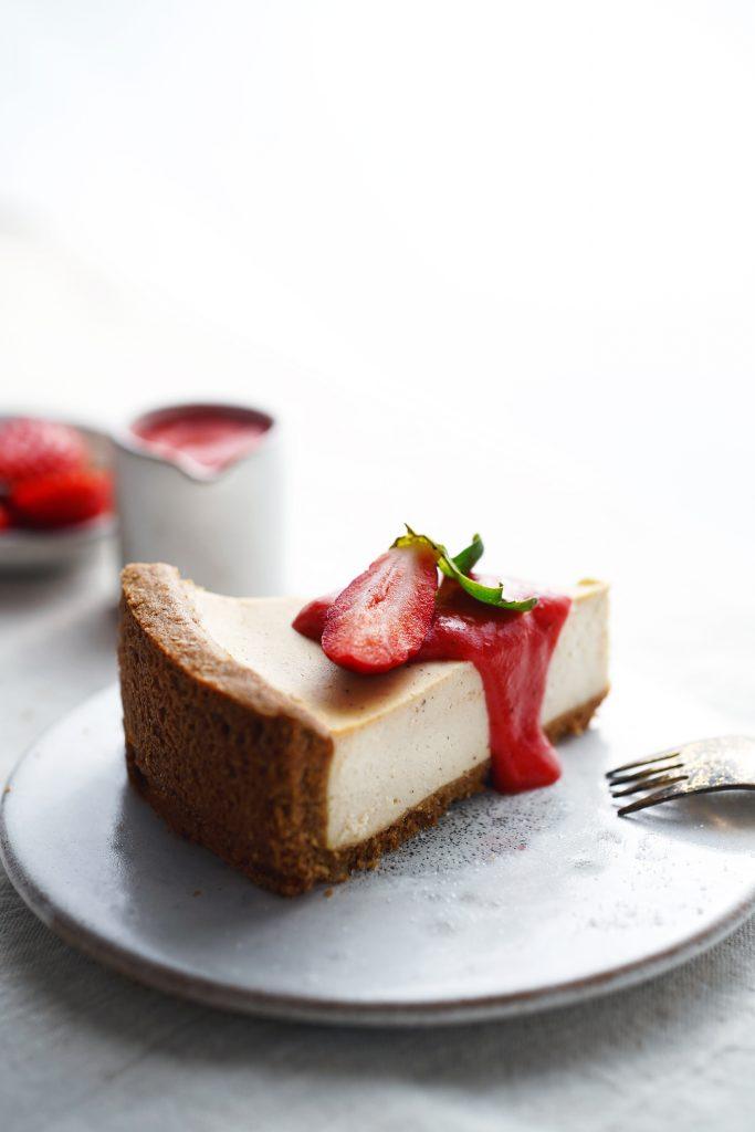 tofu cheesecake sunfood a jahodový curd