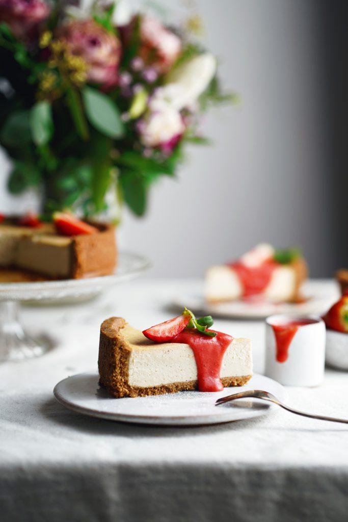 jahodový krém curd a veggie cheesecake