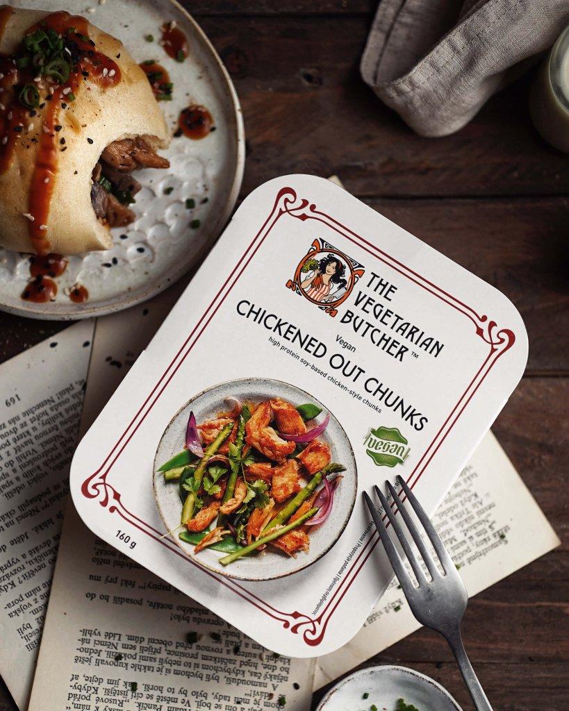 vegan kuracie kúsky The Vegetarian Butcher Chicken out chunks