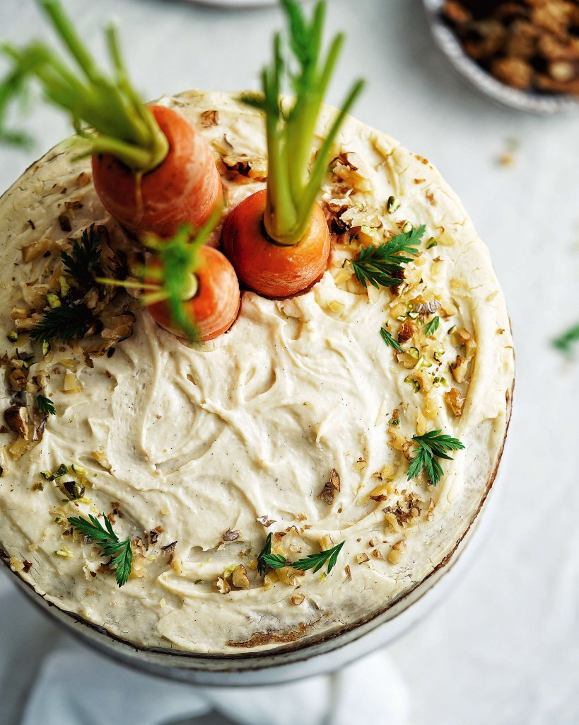 vegánska torta z mrkvou
