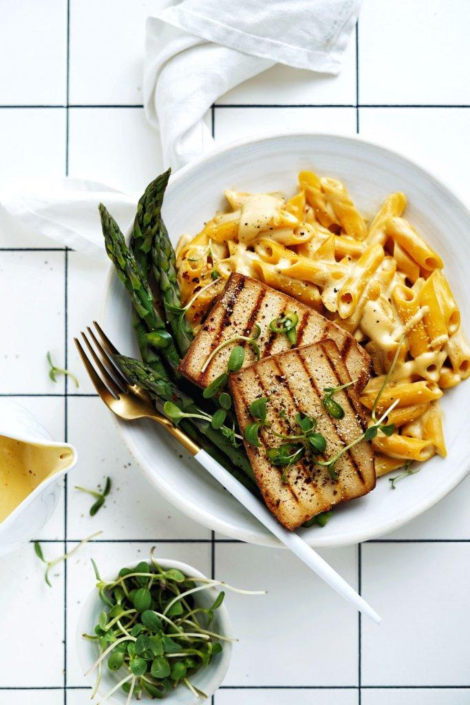 Vegan makaróny so syrom